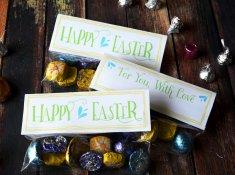 Free happy Easter Treat Topper | www.TeepeeGirl.com