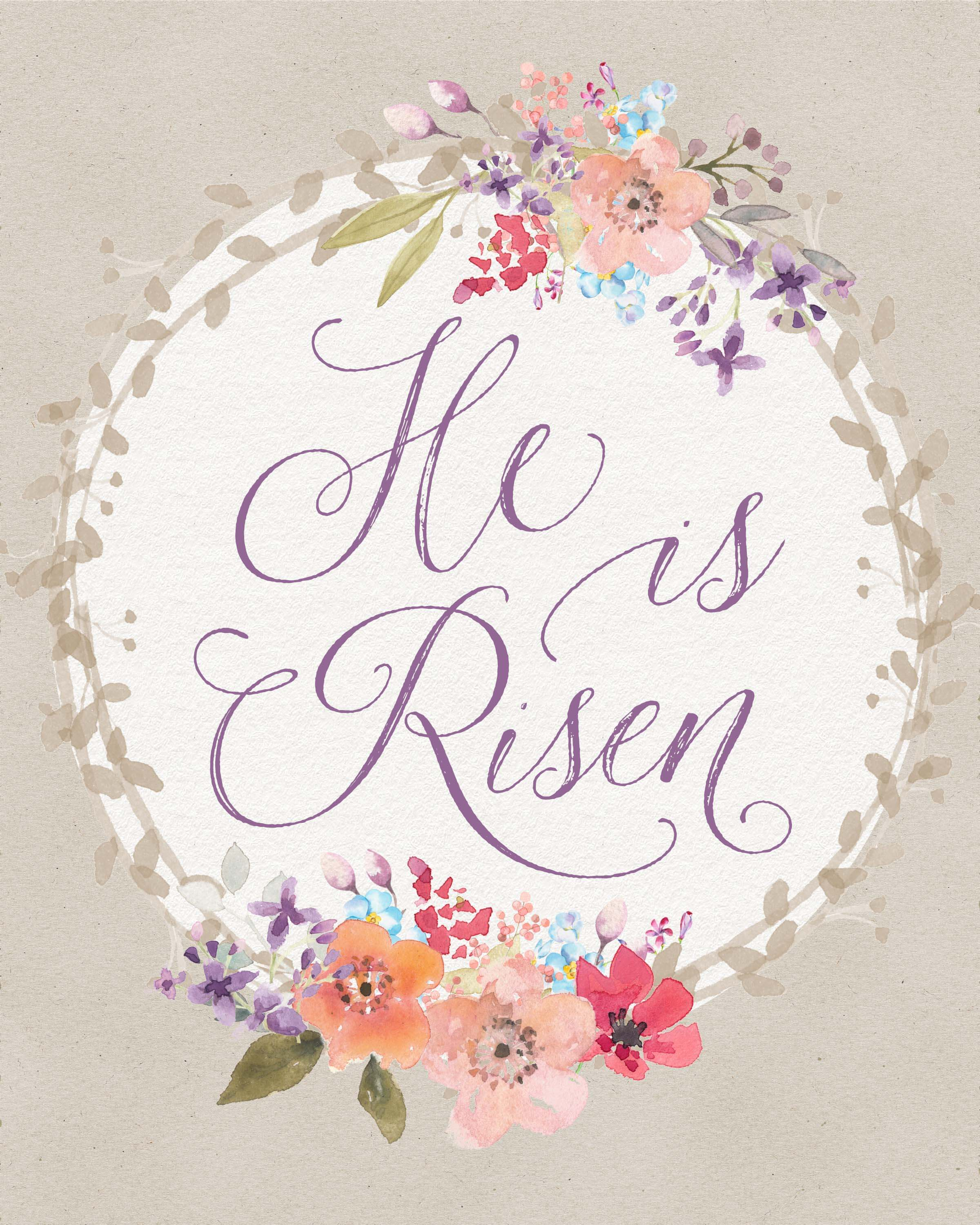 photograph relating to He is Risen Printable titled Free of charge Easter Printable towards ! \