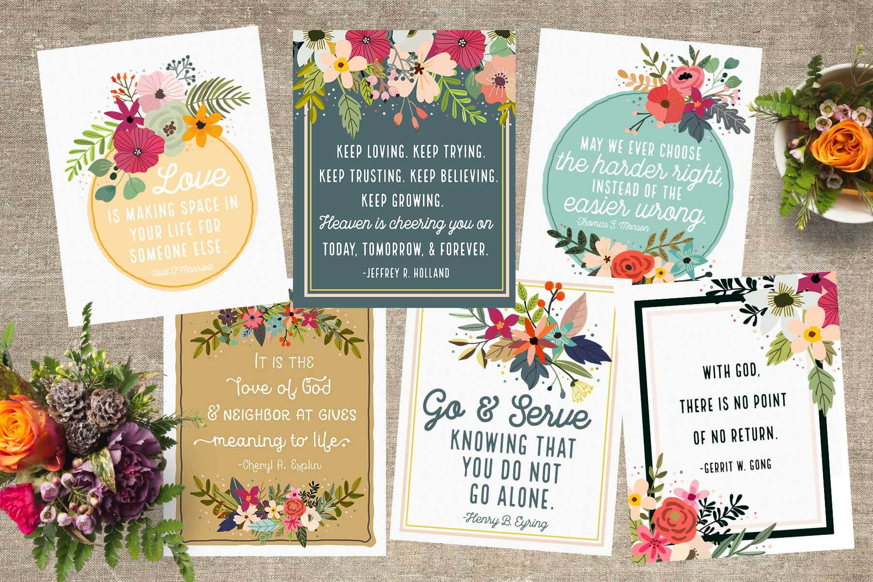 Free April 2016 LDS General Conference Quote Printables