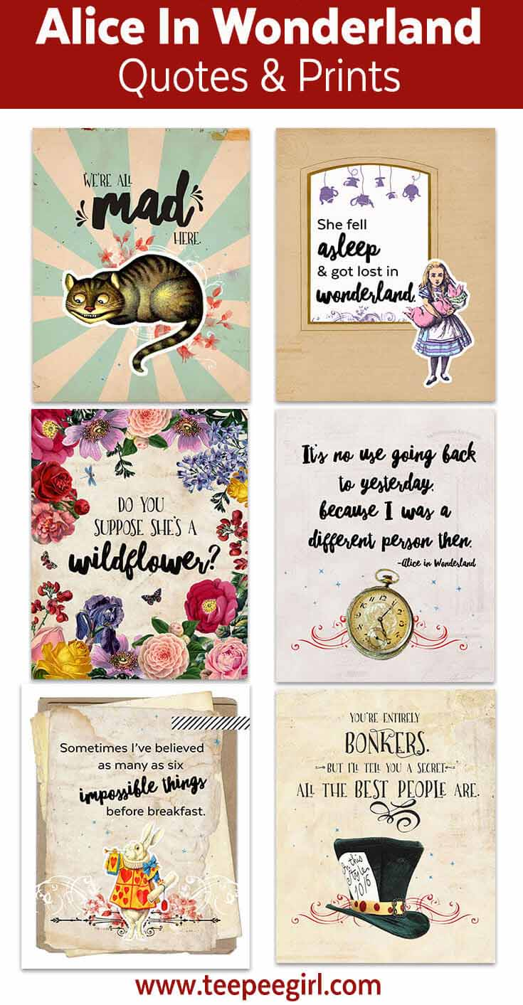 image about Alice in Wonderland Printable identify Alice Within just Wonderland Printables - Teepee Female