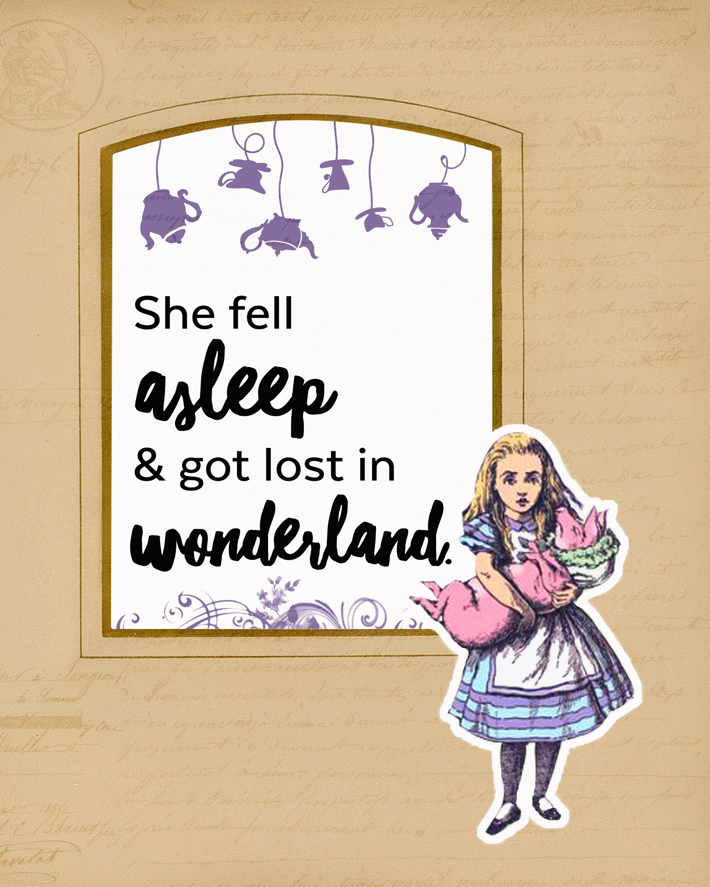 Alice In Wonderland Printables Teepee Girl