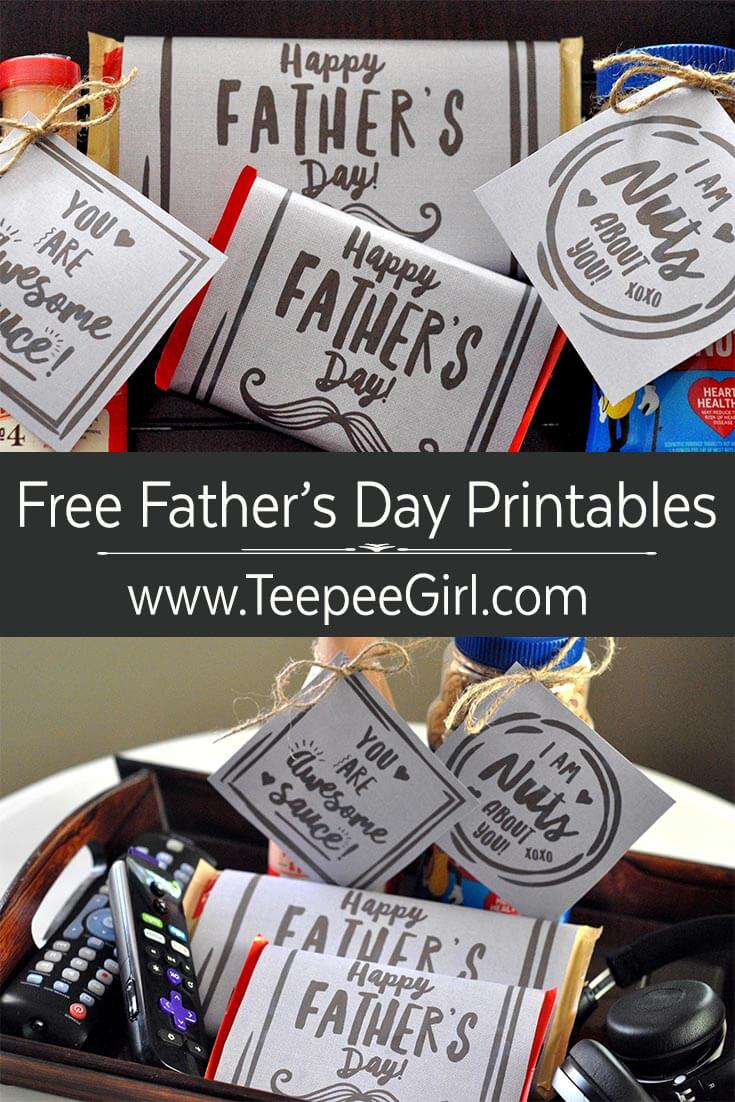 picture regarding Free Printable Fathers Day Tags called Totally free Fathers Working day Printable Tags - Teepee Female