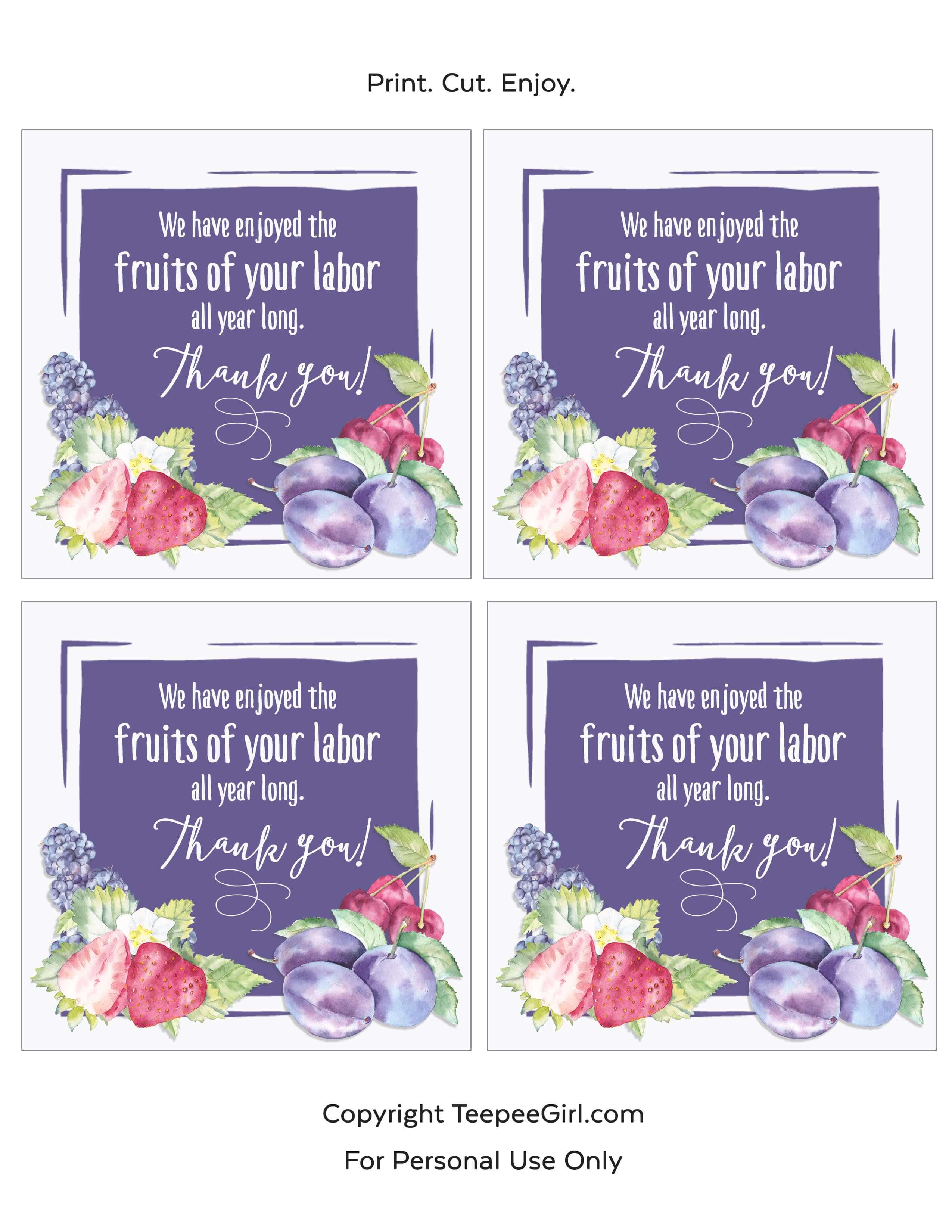 picture regarding Teacher Appreciation Tags Printable referred to as Instructor Appreciation Reward Tag Printable - Teepee Female