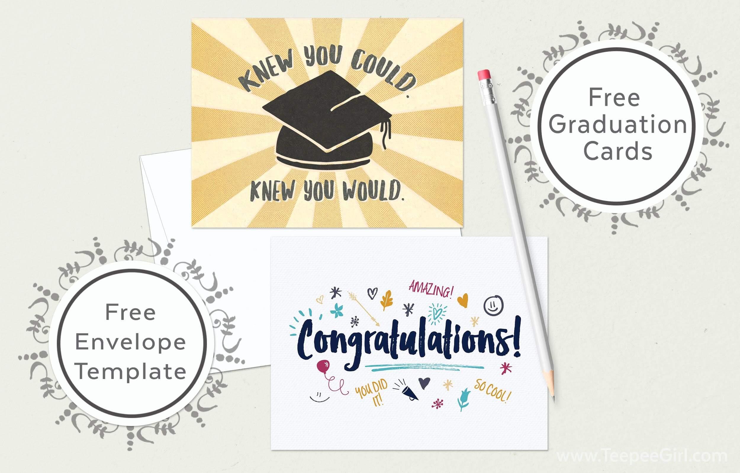 Free Graduation Cards Envelope Template Www Teepeegirl Com