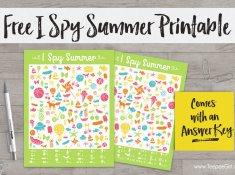 Free I Spy Summer Printable from www.TeepeeGirl.com