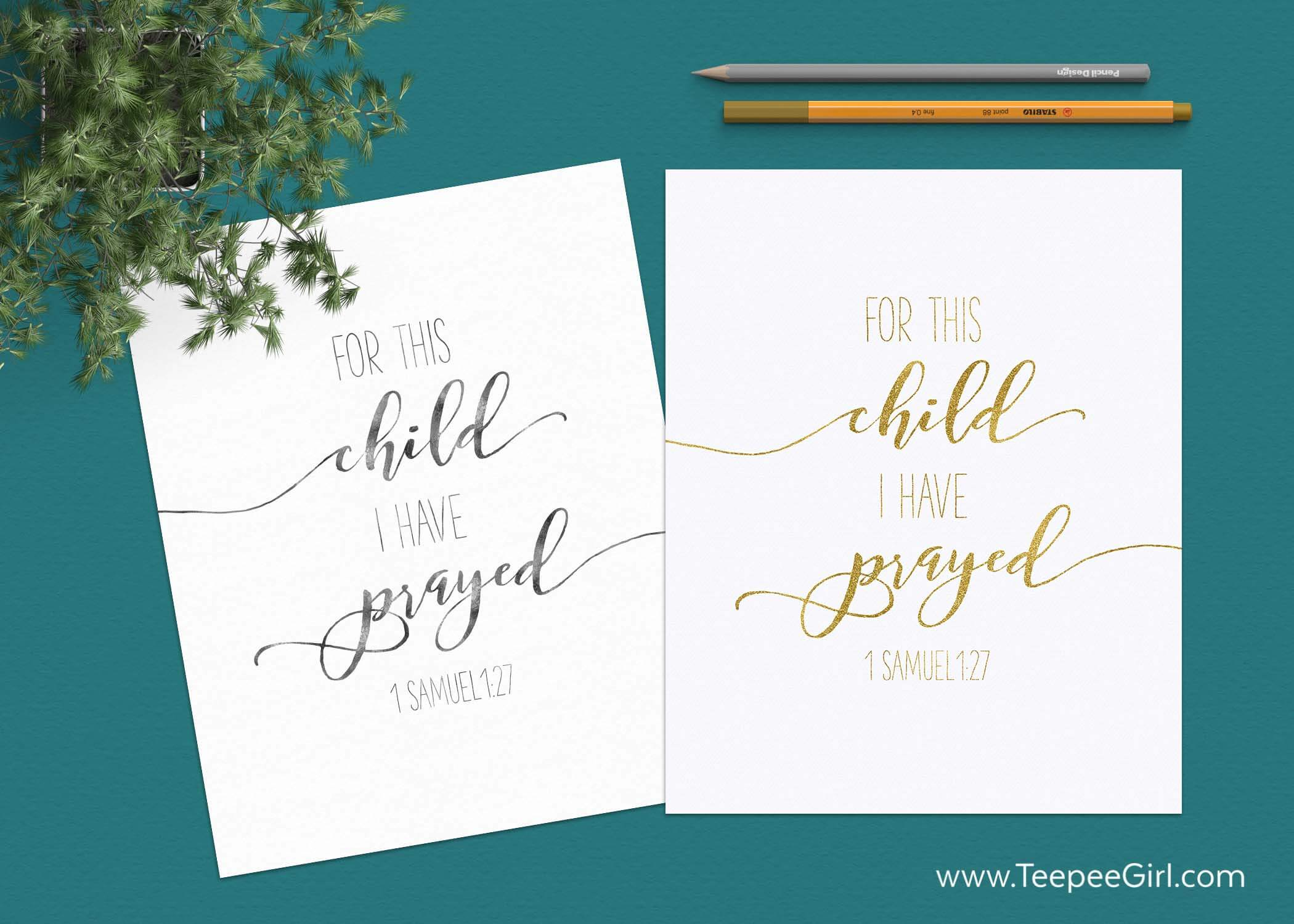 "The 5 unexpected things I learned through the adoption process, plus a free printable! ""For this child I have prayed,"" 1 Samuel 1:27. Get it today at www.TeepeeGirl.com!"