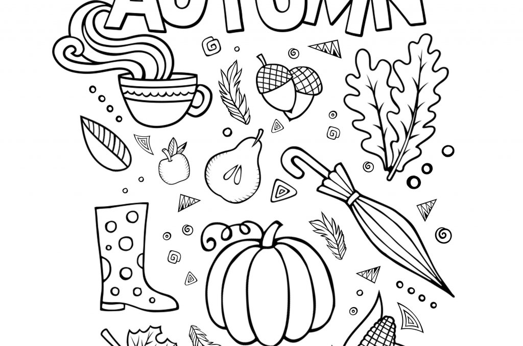 welcome-autumn-coloring-page - Teepee Girl