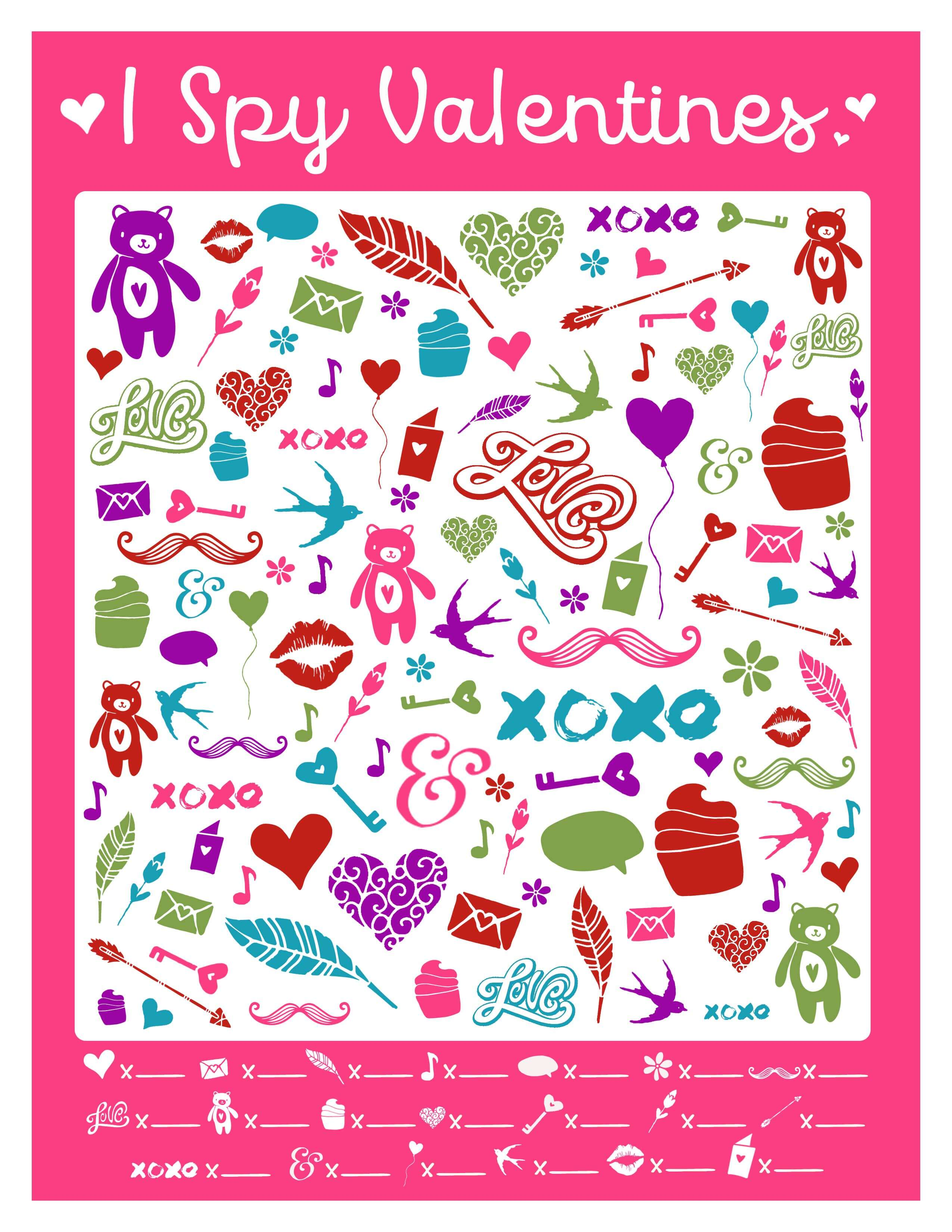 This free I Spy Valentines printable game is perfect for parties, play-dates, and quiet afternoons at home! Click here to get it or go to www.TeepeeGirl.com!