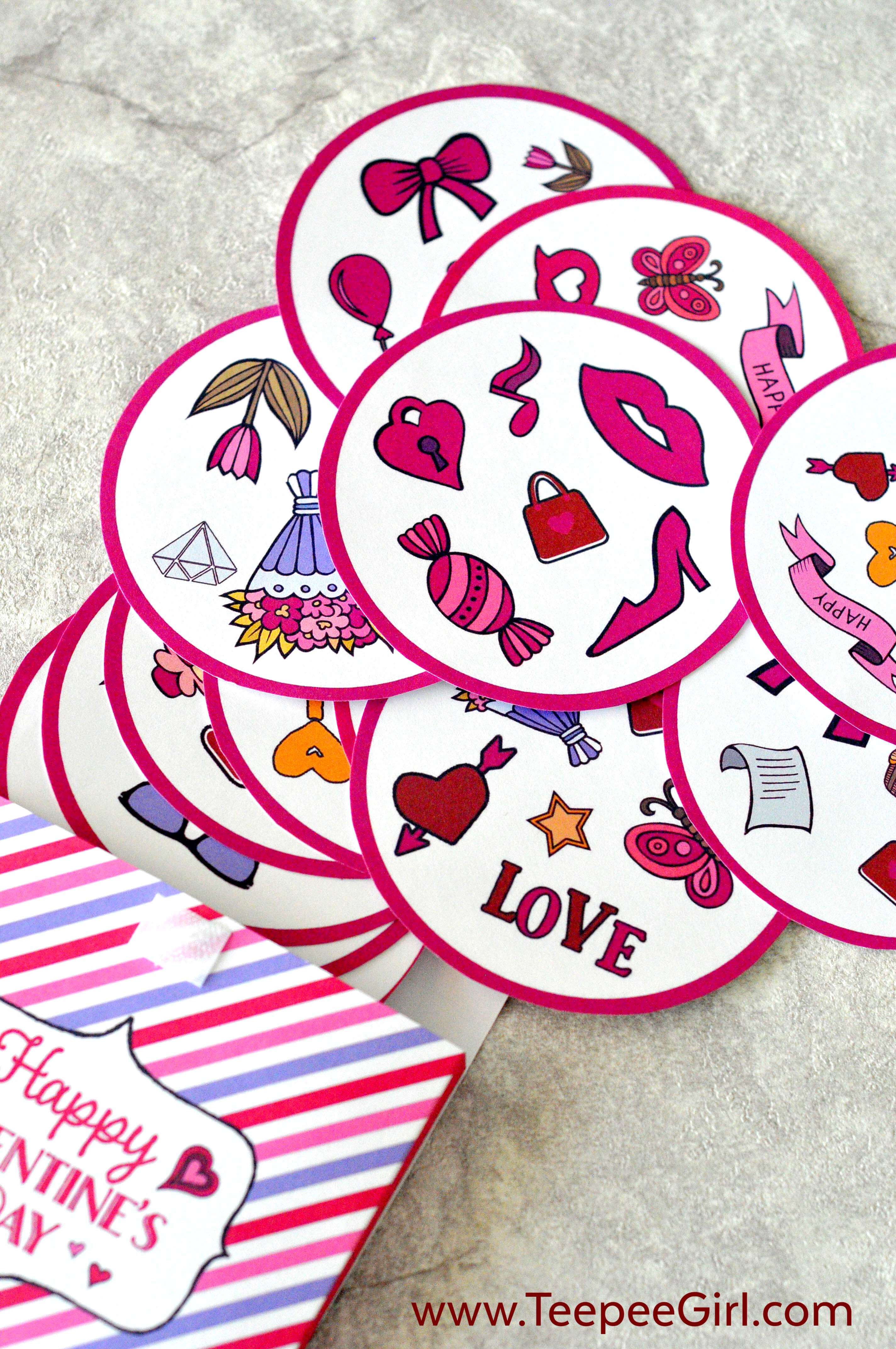 This free Valentine's Day matching game is perfect for all ages! It's colorful, bright, and super fun to play! Play it at class parties, play-dates, or at home. Even better, it comes with a matching gift box for storage-it's the perfect and inexpensive gift for families everywhere! www.TeepeeGirl.com