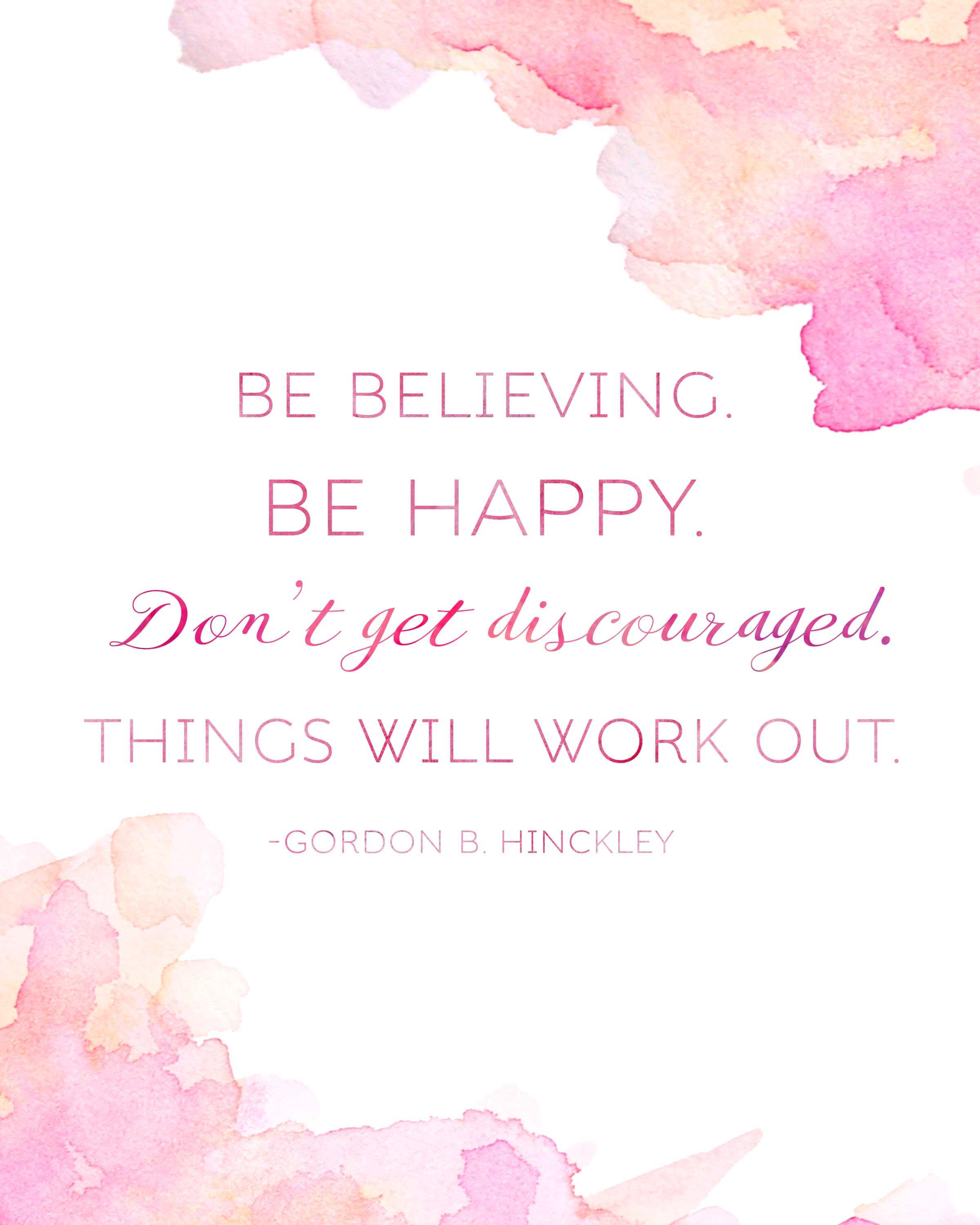 President Gordon B. Hinckley Quote Printables for Relief Society