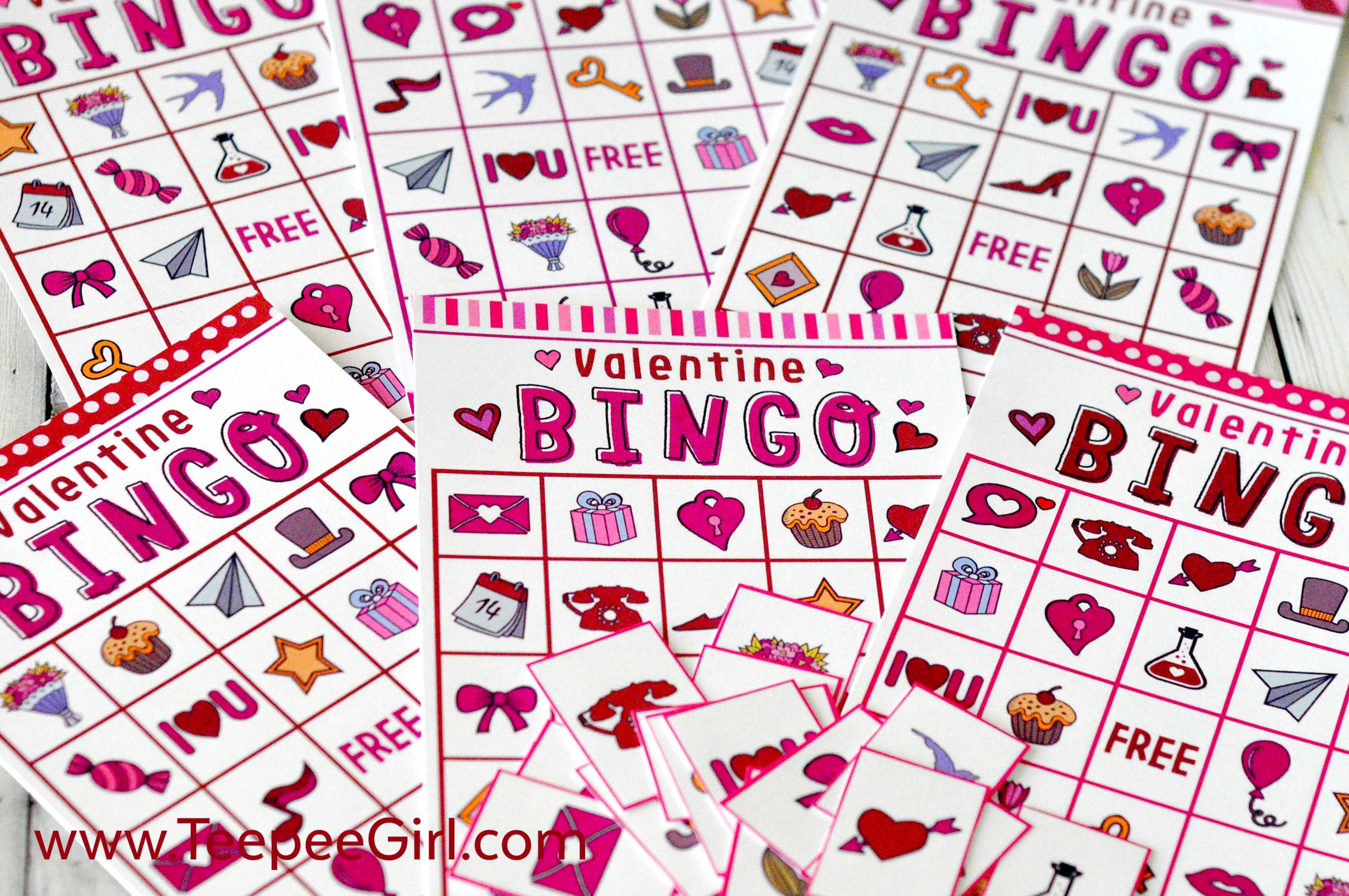 picture regarding Printable Valentine Bingo Cards identified as Absolutely free Valentines Working day Printable Bingo Activity