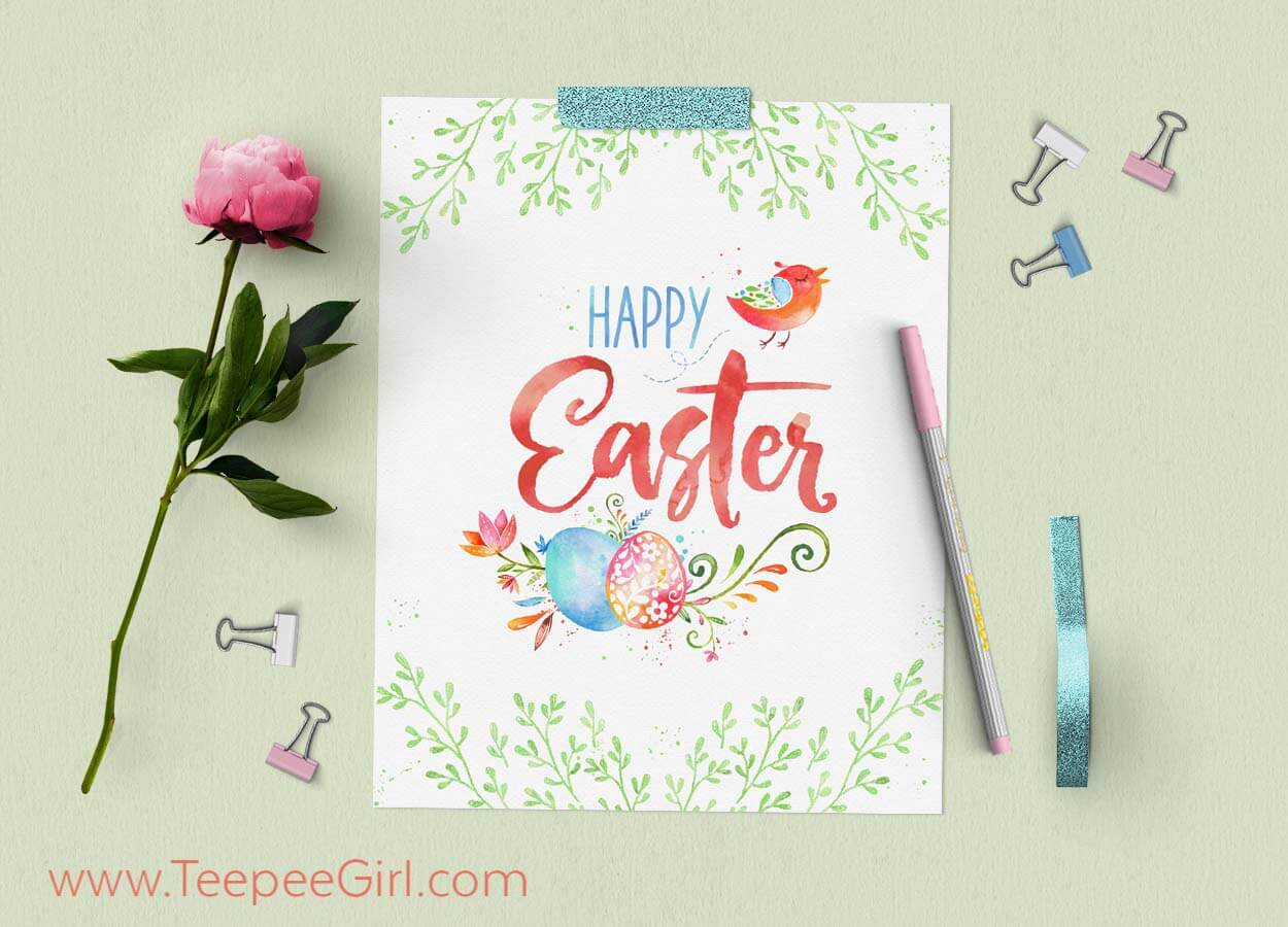 photo about Easter Stationery Printable named Free of charge Easter Printable
