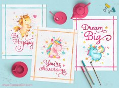 Free Unicorn Printables | www.TeepeeGirl.com