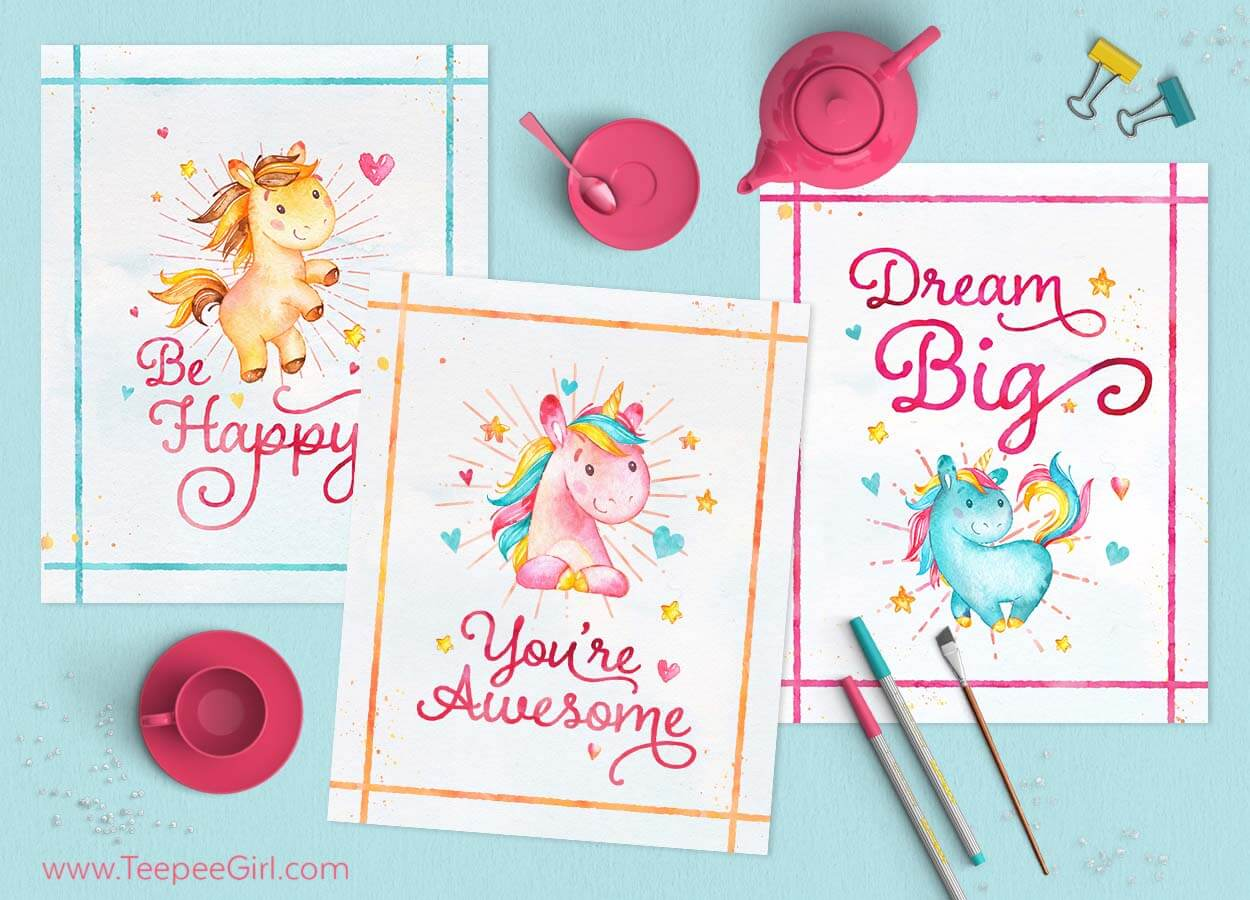 graphic relating to Free Printable Unicorn identify Free of charge Unicorn Printables