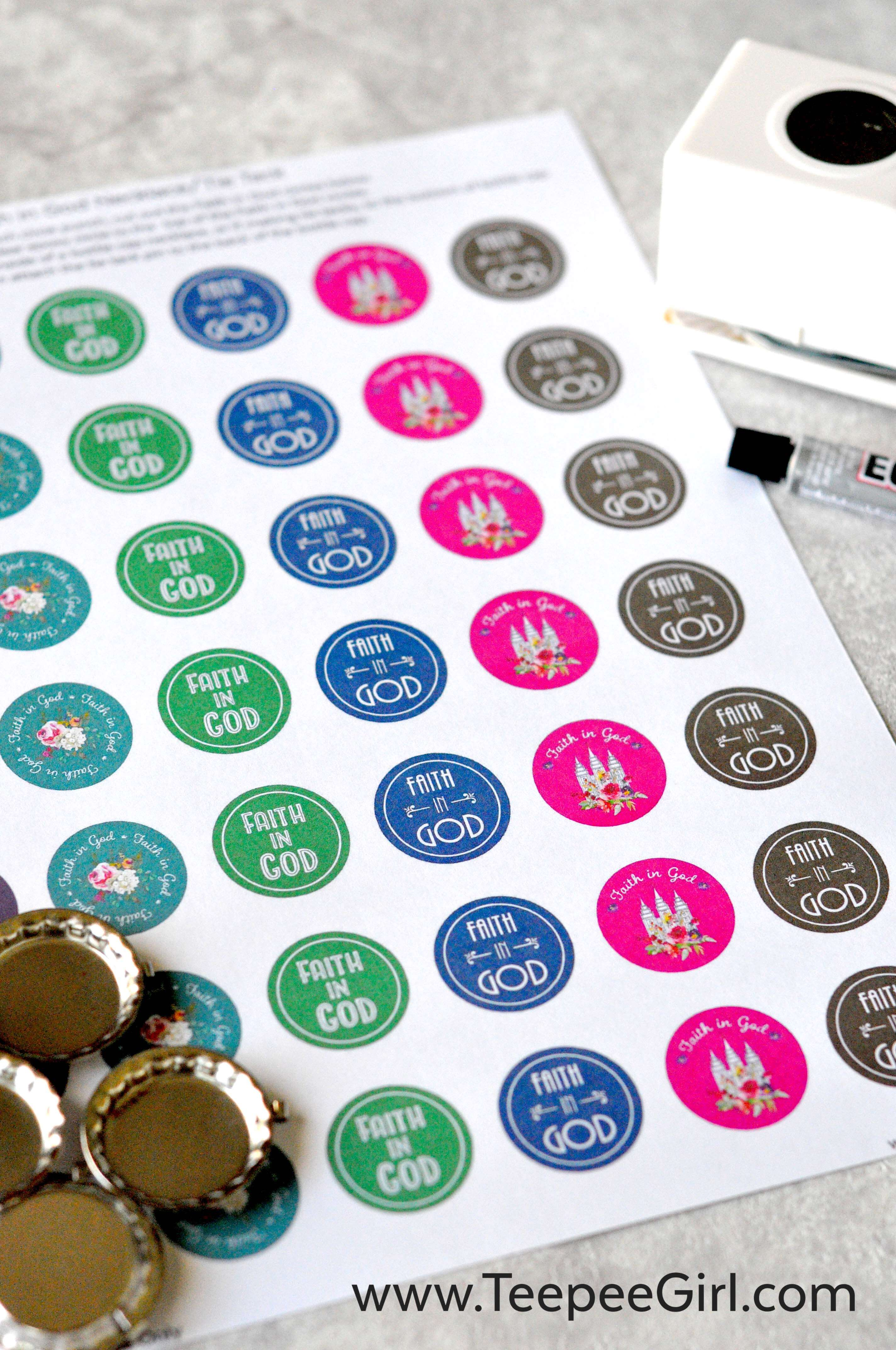 graphic regarding Bottle Cap Images Free Printable named Sport Times Necklace Tie Tack Circle Printables - Teepee
