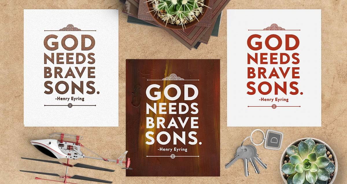 """These free """"God Needs Brave Sons"""" inspirational printables are perfect for Father's Day, office decor, room decor, gifts, handouts, and so much more!"""