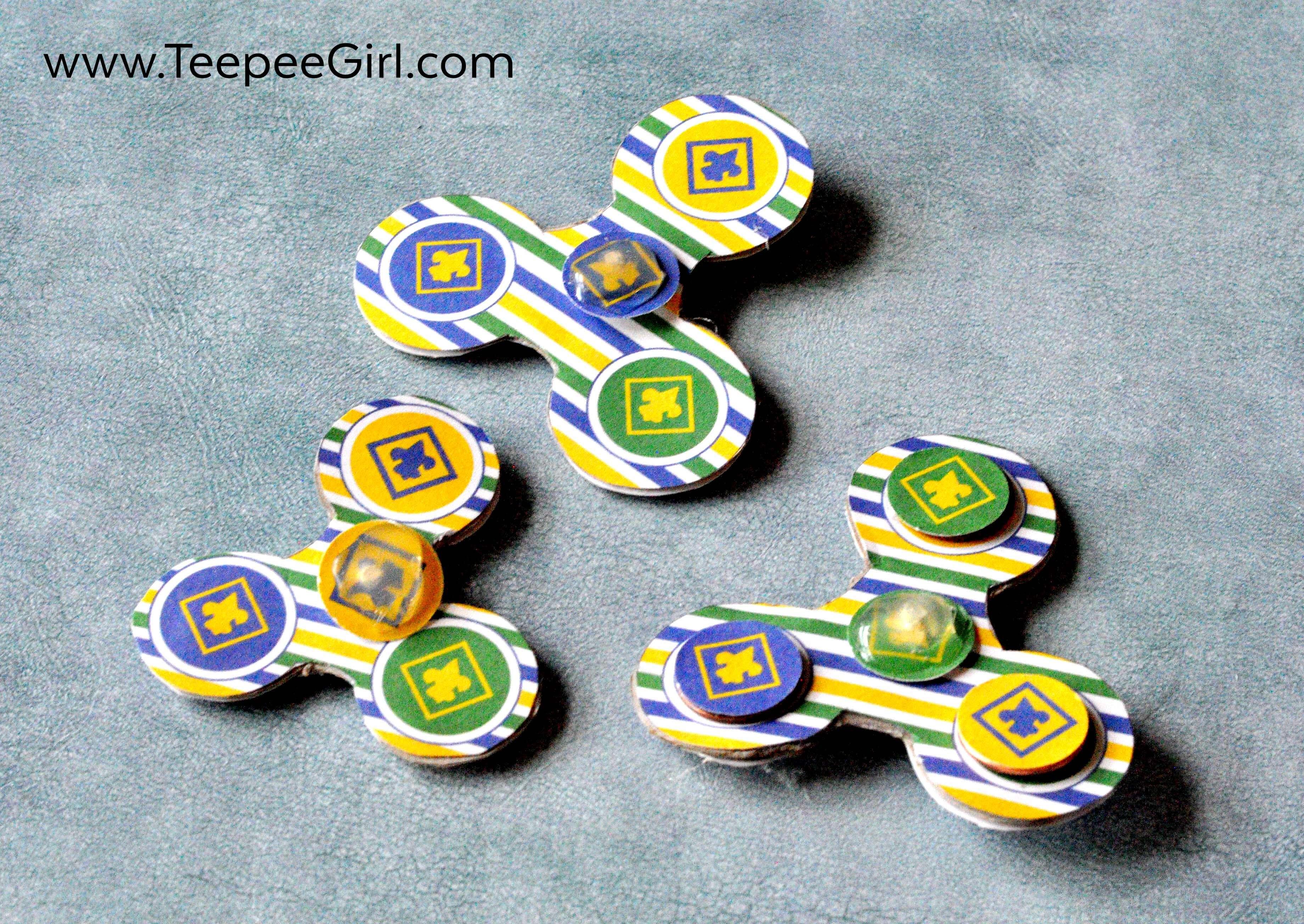 Cub Scout DIY Fidget Spinner - Teepee Girl