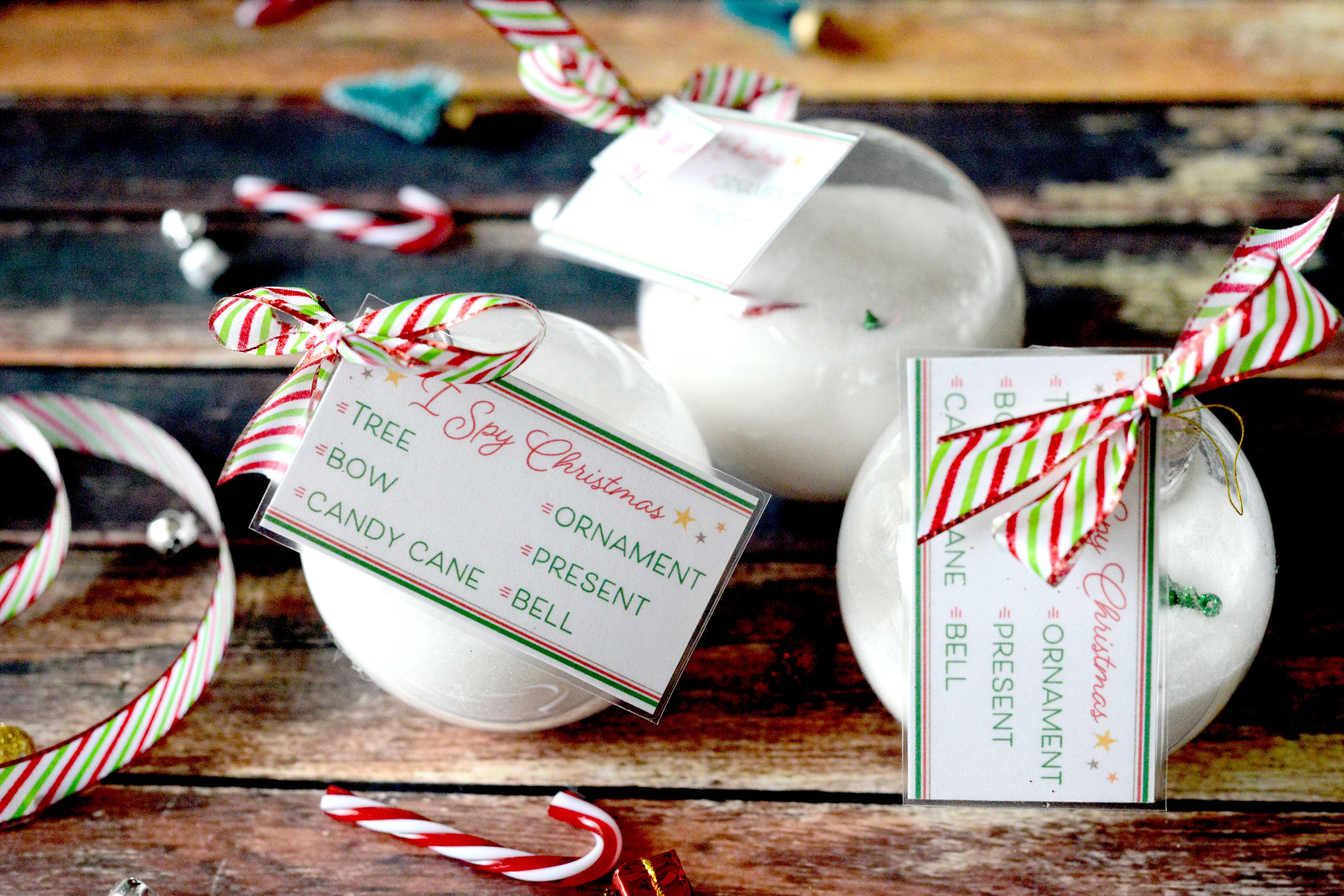 I Spy Christmas Ornament (Tutorial & Free Printables)