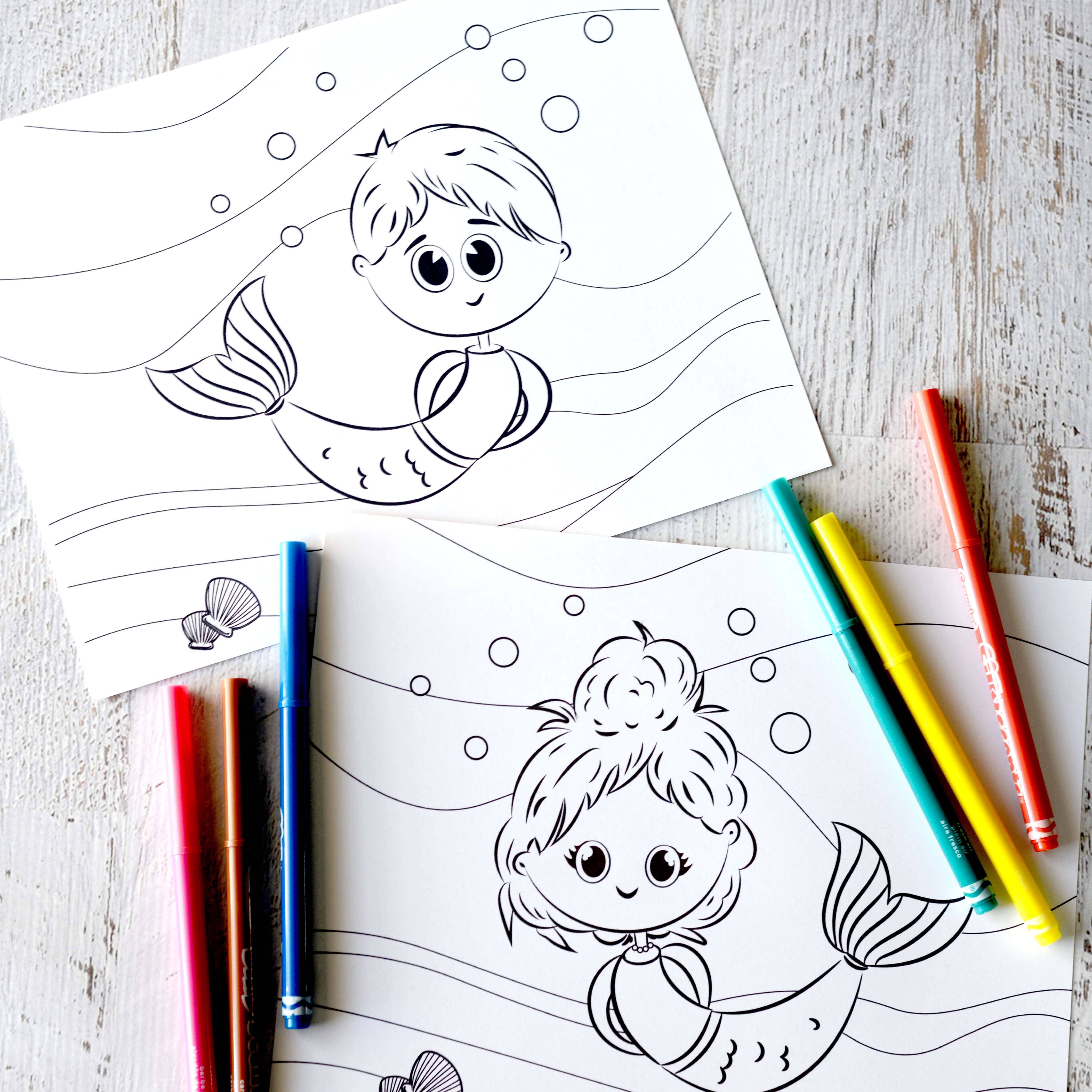 Free Mermaid Coloring Pages | Boy & Girl Mermaid Coloring Pages