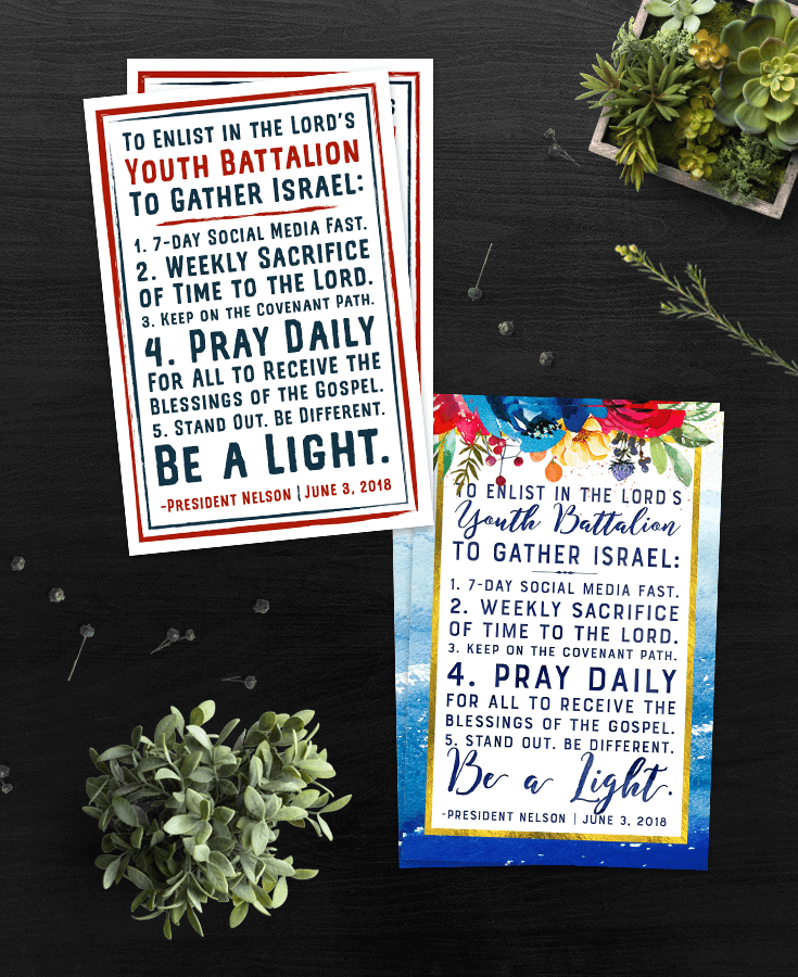 photograph regarding Printable Daily Devotions for Youth named Totally free LDS Youth Battalion Printable Handout 5 Components By yourself