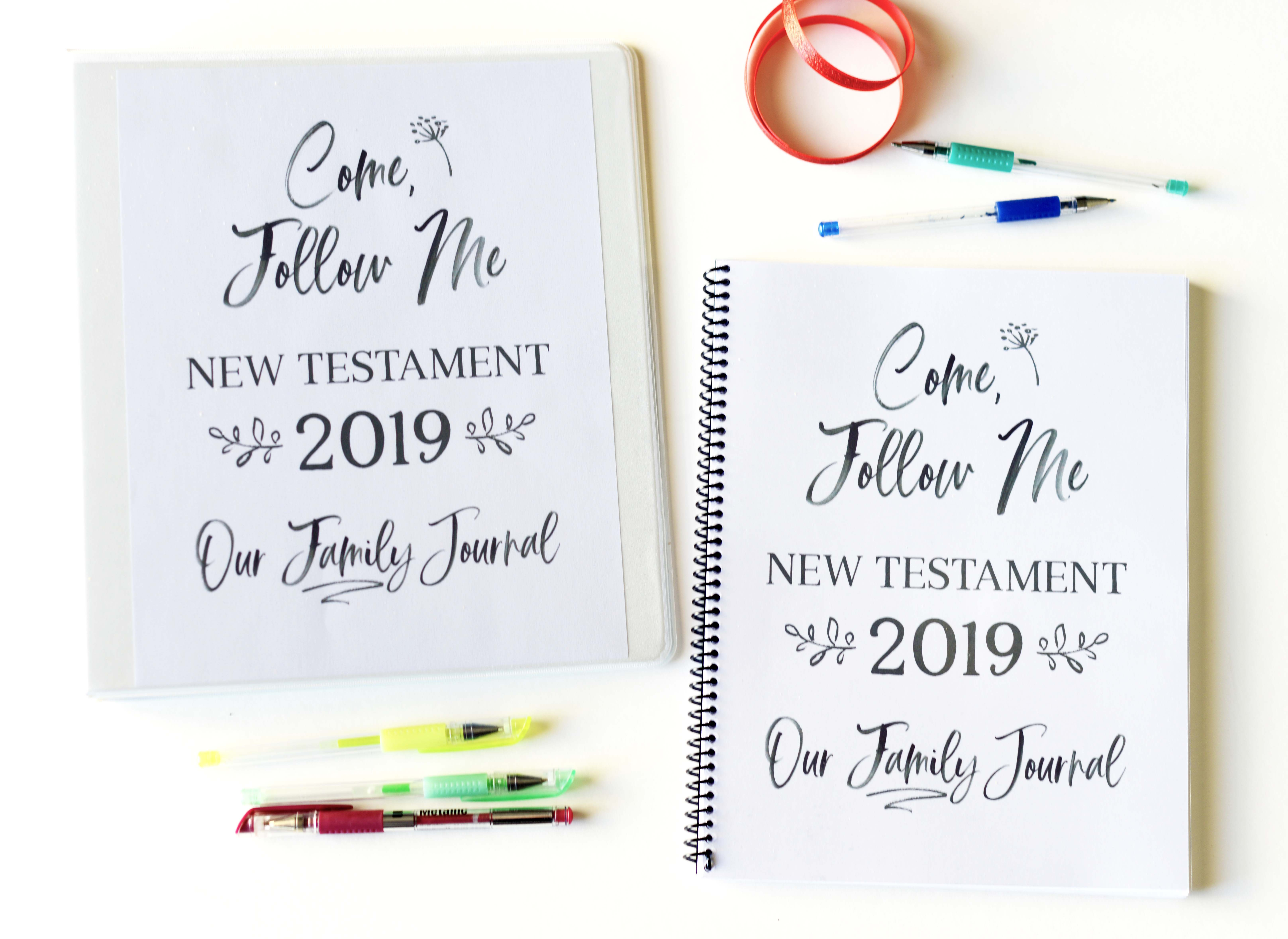 come follow me journal for families 2019