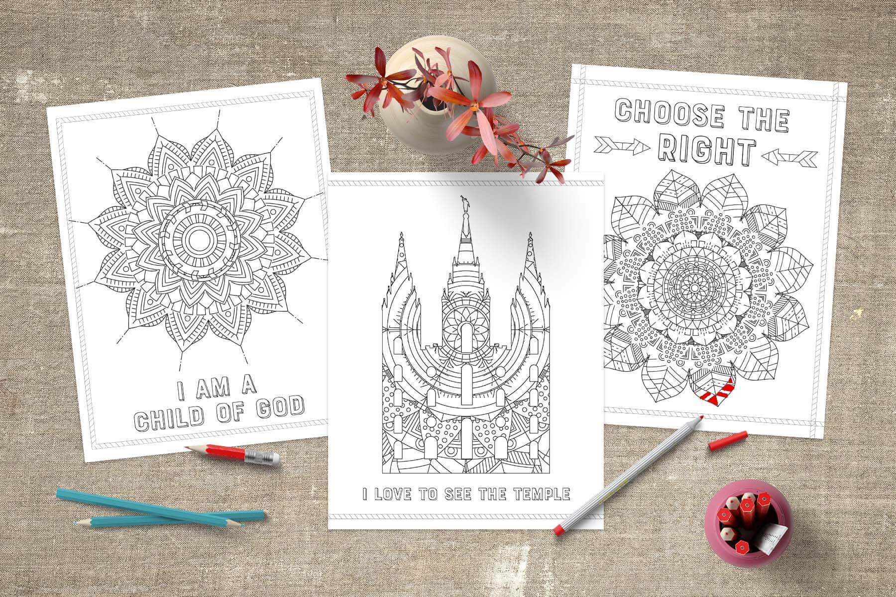 Lds coloring pages temple coloring pages www teepeegirl com