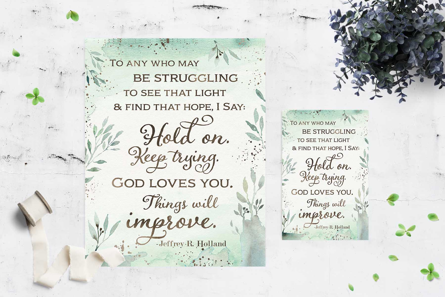 Free Ministering Quote Printable \