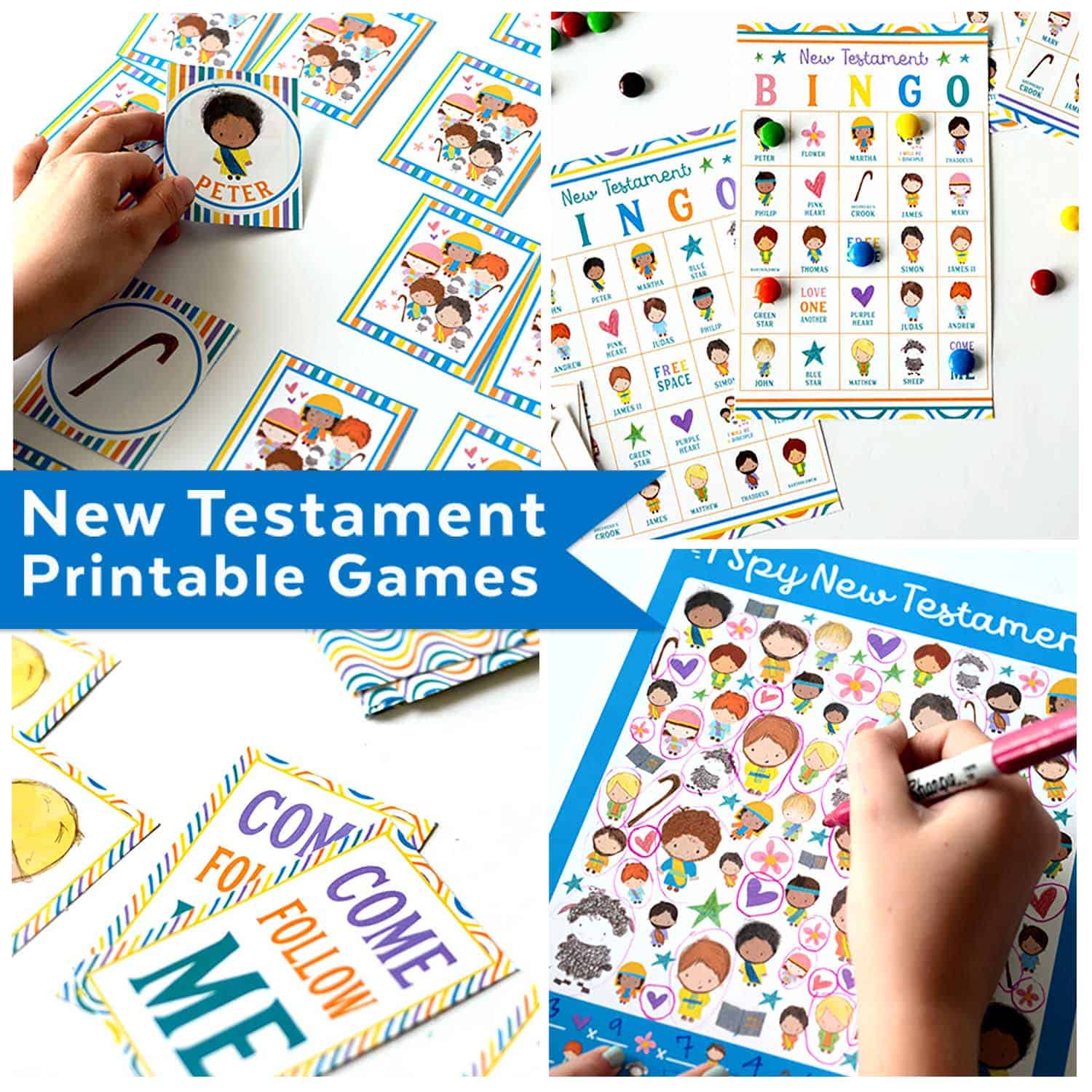 picture regarding Printable Bible Games identify I Spy Contemporary Testomony Printable Video game - Teepee Woman