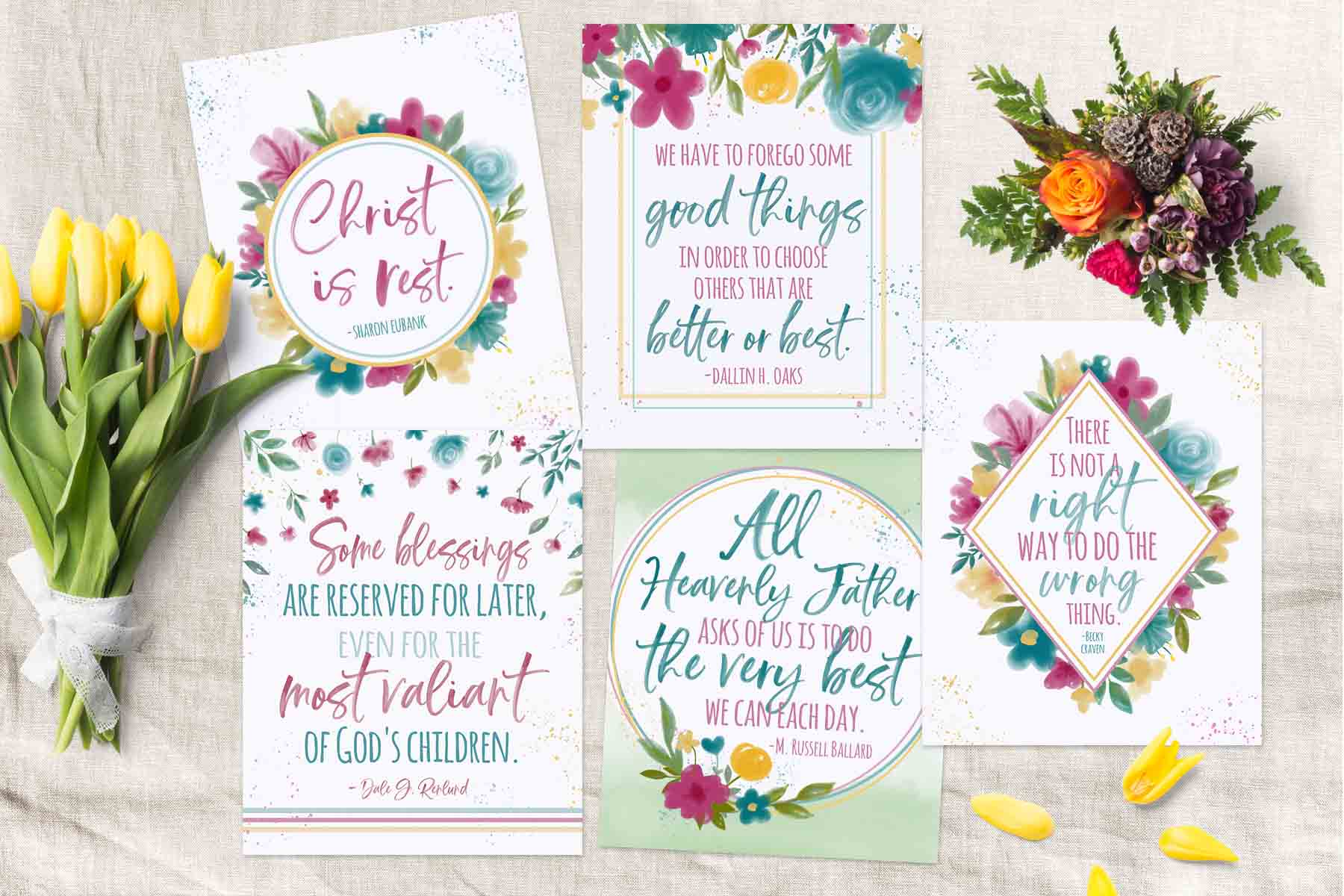 April 2019 General Conference Quote Printables - Teepee Girl